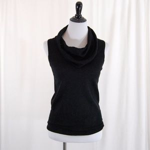 Limited Wool Blend Cowl Neck Sweater Tank