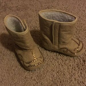29a757735f42b5 Shoes - Swarovski crystallized baby boots in brown