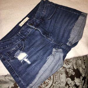 Pants - Dark denim jean short cutoffs