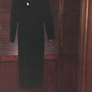 Black classic long gown size 8