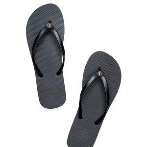 NWT Tory Burch Classic Black Flip Flops