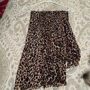 J Crew leopard scarf