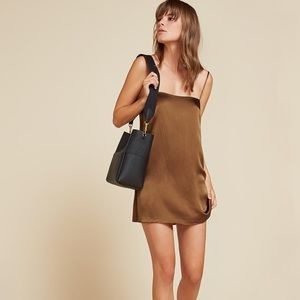 Reformation Alegre Silk Slip Dress