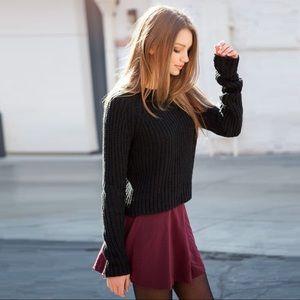 Brandy Melville Glenna Burgundy Skirt