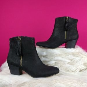 Nine West size 7 leather black booties