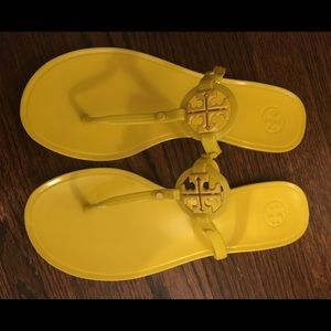 Tory Burch canary yellow size 9 sandals