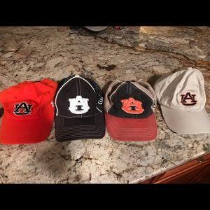 4 mens auburn Tiger hats
