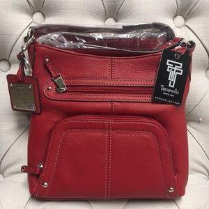 Tignanello Pebble Leather Crossbody Organizer Bag