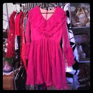 Vintage pink ruffles dress