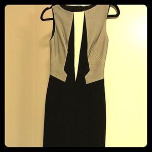 Karen Millen Black and White Pencil Dress Size 4
