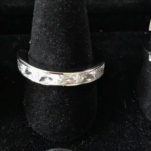 Sterling Silver Eternity Baguettes CZ