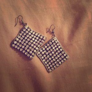 Shiny dangly earrings