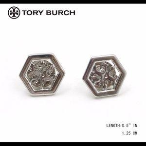 Tory Burch Hexagonal Earrings