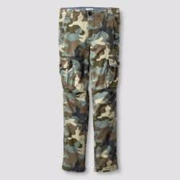 6f77464c Cat & Jack Bottoms | New Cat Jack Boys Camo Slim Fit Cargo Pants Nwt ...