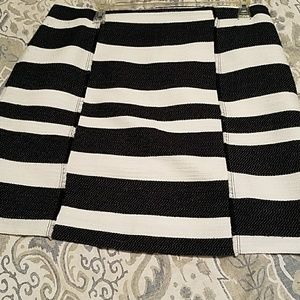 Ann Taylor Loft Striped Flippy Skirt