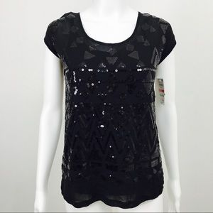INC International Concepts Sequin Top with Cami