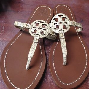 Tory Burch Snake skin sandals