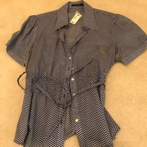 The Limited Short Sleeve Dress Shirt with belt tie