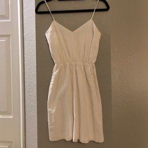J. Crew White Linen Tank Dress