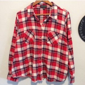 3X plus size juniors plaid flannel Jacket shirt
