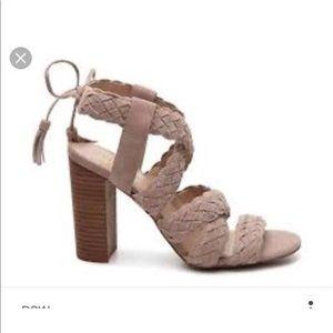 BCBGeneration block heel tan sandal 8.5