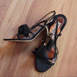 Navy Rosette badgley mischka Dress sandals