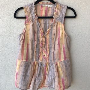 Holding Horses Faye Plaid Sleeveless Button Blouse