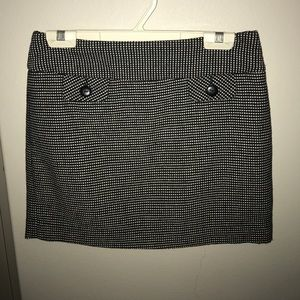 Black twill mini skirt