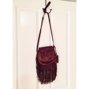 Polo Ralph Lauren Suede Fringed Crossbody Bag NWOT