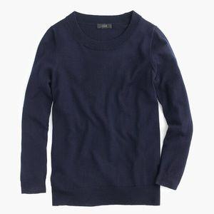 J Crew Tippi navy sweater