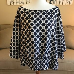Michael Kors flowy silk top with elastic waist