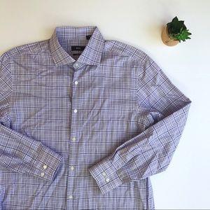 Hugo Boss Plaid Sharp Fit Dress Shirt