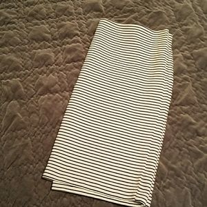 Ann Taylor Loft striped knit skirt