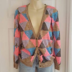 Madewell geometric fair weather cardigan