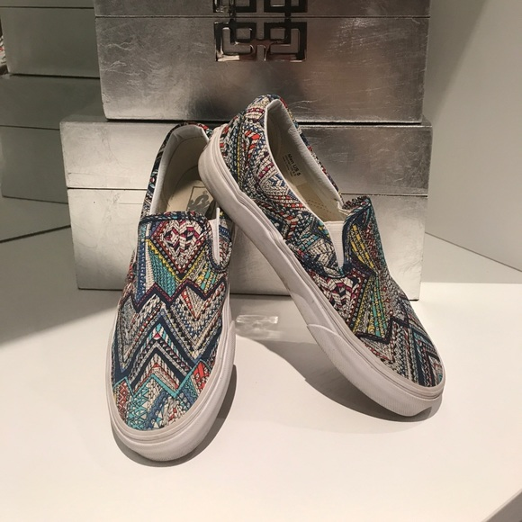4520db7704 Vans slip on geometric pattern. M 59e9381a680278548c007b1a. Other Shoes ...