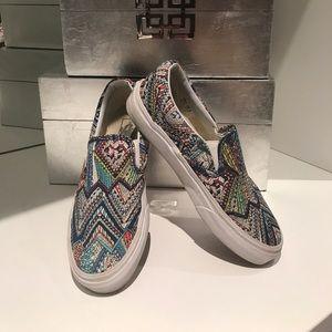Vans slip on geometric pattern