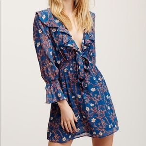 FP Floral Ruffle Mini Dress