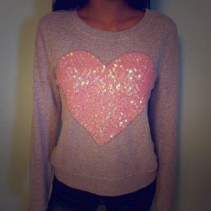 Heart Sequin Sweater