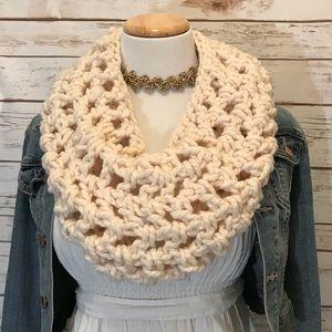 Cream handmade infinity scarf - new!