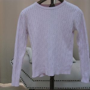 IZOD Pastel Pink Cable Sweater
