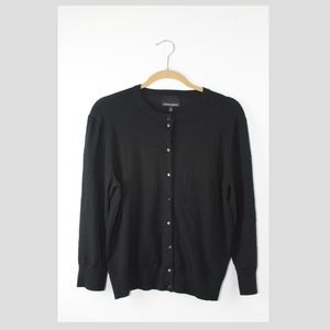 Cynthia Rowley XL Black Long Sleeve Cardigan