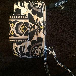 vera bradley phone holder and wristlet