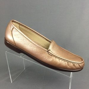 SAS Comfort Loafers Women's 12 S Rose Gold Moc Toe