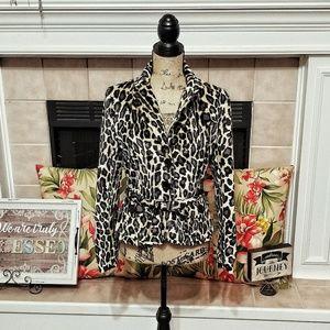 Jackets & Blazers - Ivy Jean f.l. Malik leopard print crop jacket Med