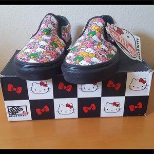 Vans Classic Slip On X Hello Kitty (Kids Sz 3)