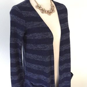 LuLaRoe Sarah Cardigan Blue Stripes size XS