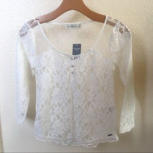 Sheer lacey top from Abercrombie & Fitch