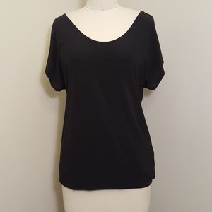 Slinky black cross back blouse