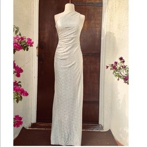 Cache Gold Metallic Texture Gown Size 0