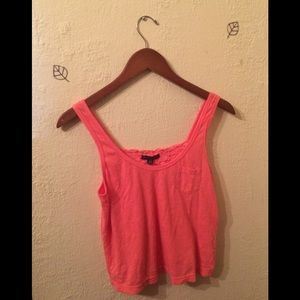 3 for $20 coral crochet back tank